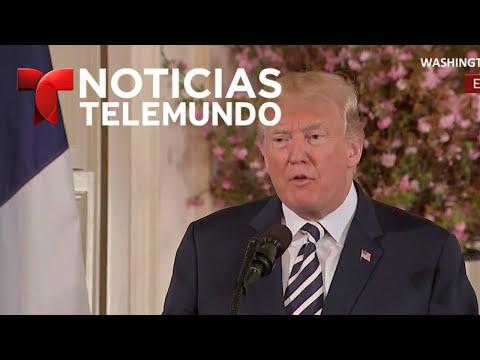 EN VIVO: Declaraciones del presidente Trump con su homólogo de Francia