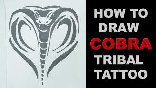 How to draw cobra tribal tattoo design  |   Ep. 129