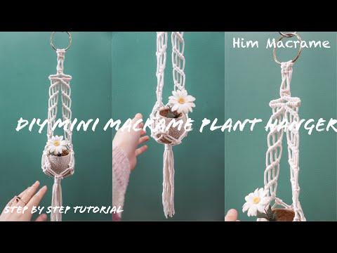 diy-mini-macrame-plant-hanger-#18,-super-easy-for-macrame-beginners