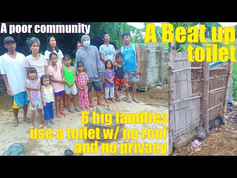 How to Help the POOR: Let's Build a Decent Community Bathroom for These Poor Filipino Families