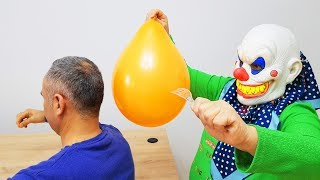 PRANK! İn The Balloon İce Water Joke & And Mask With Escape