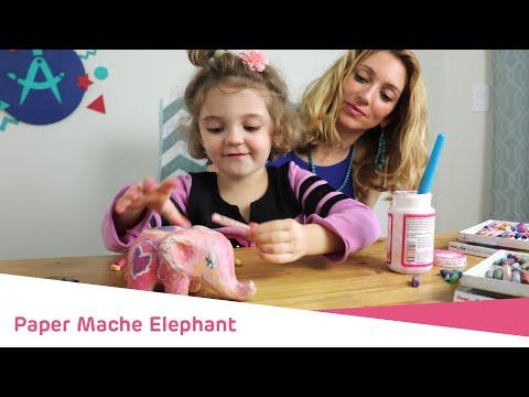 Paper Mache Elephant: Paint it Together!