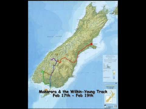 2008-2009 New Zealand Travel Route Map