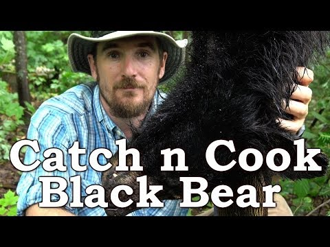 Catch n Cook BLACK BEAR!!! | BEYOND SURVIVAL | The Wilderness Living Challenge 2017 | S02E06