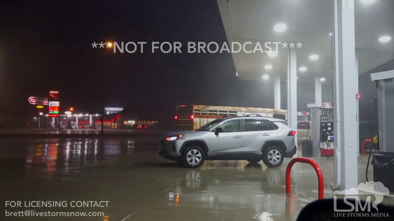 06-26-19 Belle Fourche, SD - Severe Squall Line Lightning Timelapse High Winds