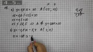 Итоговое повторение 15. Вариант А. Б. Алгебра 7 класс Мордкович А.Г.