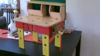 Diy Kid's Workbench, Kids Toolset, Wooden Vice φτιαξτο μονος σου, παγκος εργασιας παιδικος)