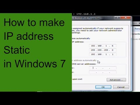 How to make IP address static