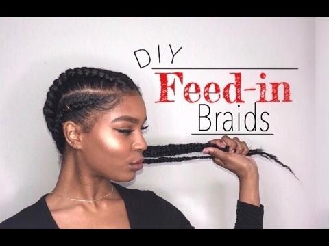 Diy Feed In Braids With Marley Hair Youtube