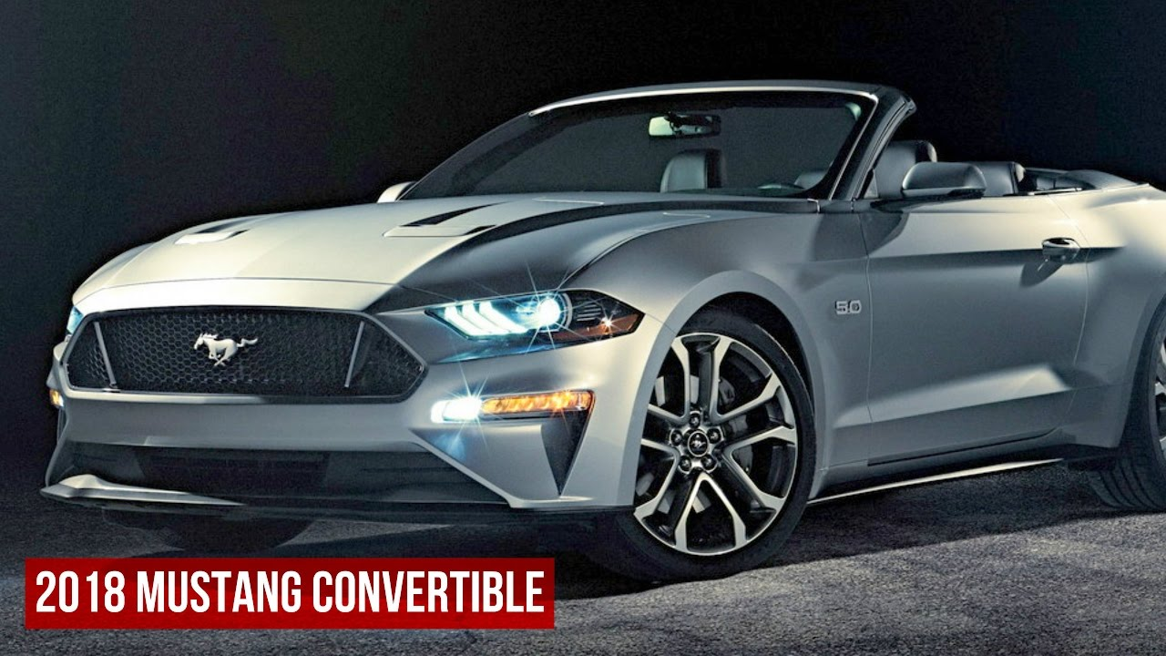2018 mustang convertible revealed