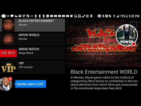 Black Entertainment apk back