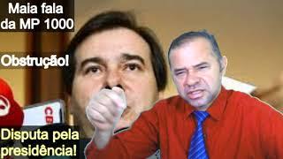 Maia fala o motivo de não ter pautado a MP 1000. Disputa pela presidência trava pauta de votações.