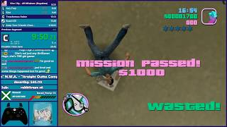 GTA Vice City All Missions Speedrun & GTA:SA 100% Practice - Hugo_One Twitch Stream - 1/22/2019