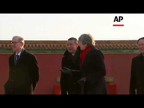 UK PM May visits the Forbidden City in Beijing