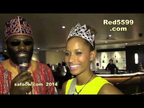Miss Zambia uk interview @ South African Fashion & Culture Week UK 2014