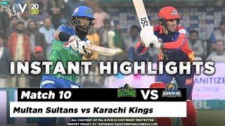 Multan Sultans vs Karachi Kings | Full Match Instant Highlights | Match 10 | 28 Feb | HBL PSL 2020
