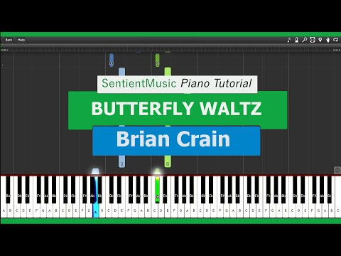 "Brian Crain - ""Piano Lessons"" BUTTERFLY WALTZ - Piano Tutorial HD"