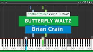 "Brian Crain - ""Piano Lessons"" BUTTERFLY WALTZ - Piano Tutorial HD"