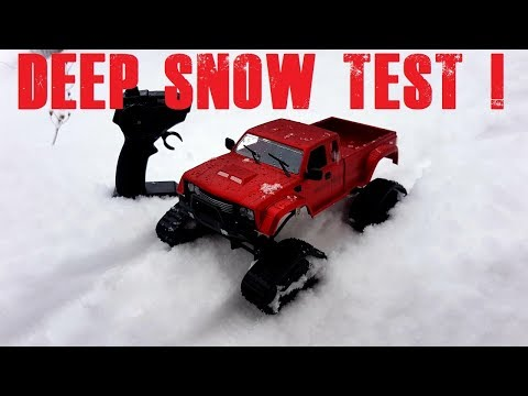 Fayee Fy002 Crawler Truck Unbox And Deep Snow Test Really Cool