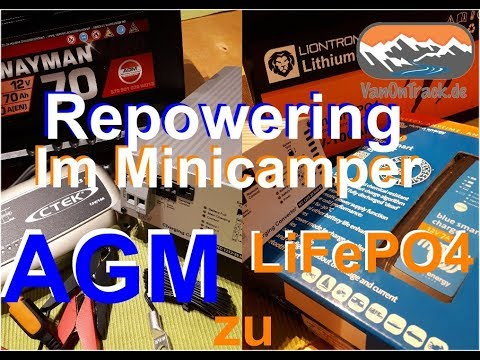 Stromversorgung Von AGM Zu LiFePO4 Im Minicamper Lithium Batterie Einstellungen Ladebooster