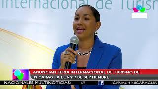 Multinoticias | Anuncian Feria Internacional de Turismo de Nicaragua, el 6 y 7 de septiembre