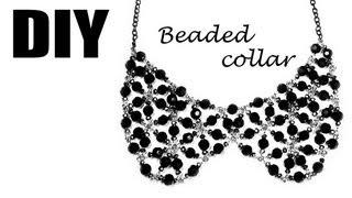 DIY: handmade beaded collar / Воротник из фурнитуры и бусин своими руками