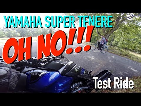 Yamaha Super Ténéré Test Ride and CRASH!