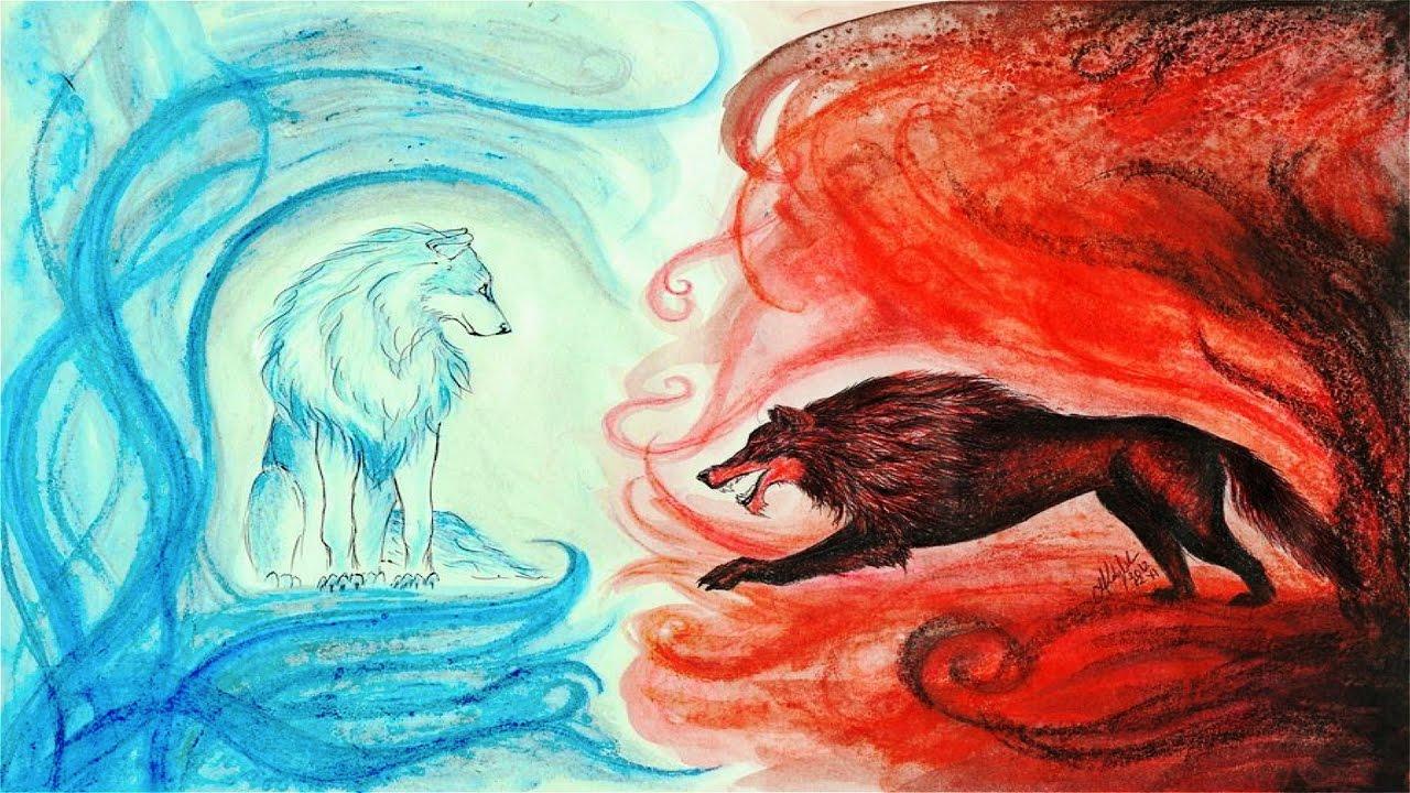 Los dos lobos | Cuento con valores y sabiduría