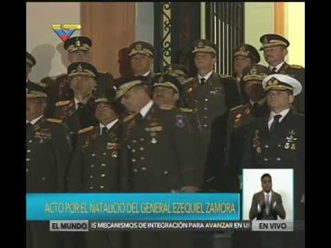 Bicentenario de Ezequiel Zamora. Actos completos en el Panteón Nacional