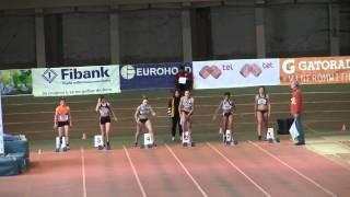60 m Final Girls U16 Indoor Champs Dobrich 2015