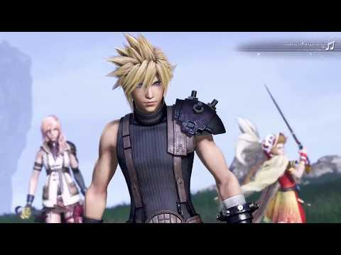 Dissidia Final Fantasy Hero Cloud Strife in Battle