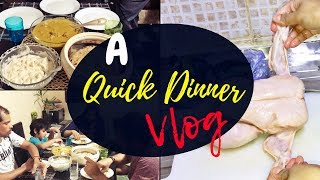 How to easily cut a Whole Chicken / A Quick Dinner Vlog