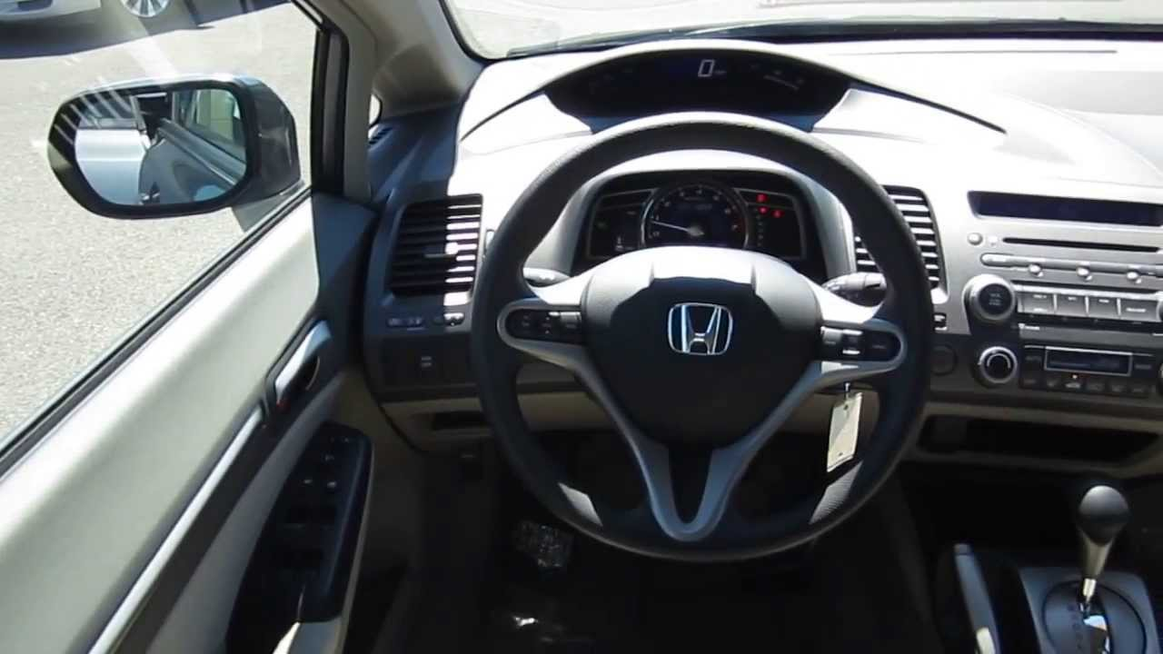 2009 honda civic gray stock 6348a interior youtube