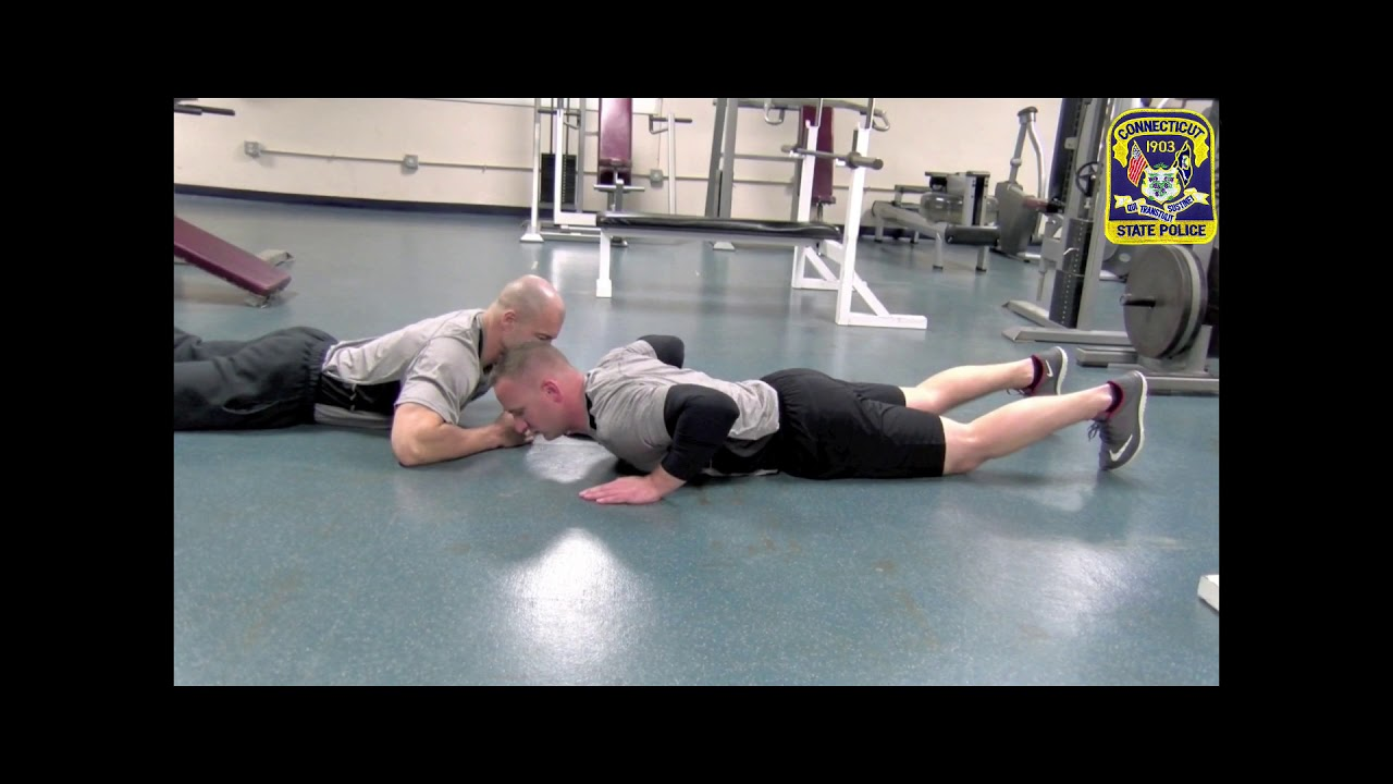 CT State Police Physical Fitness Assessment: Push-ups
