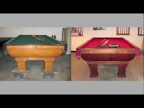 Antique Pool Tables - Brunswick Saratoga vs Newport