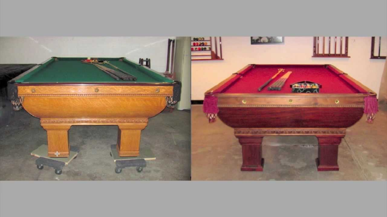 Antique Pool Tables Brunswick Saratoga Vs Newport YouTube - Newport pool table