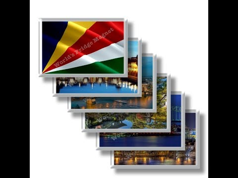 SC - Travels in SEYCHELLES - rectangular magnets and souvenirs