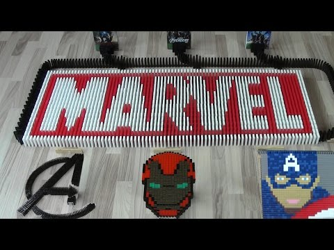 Marvel in 20,000 dominoes (DominoERDMANN & Ludominosa)