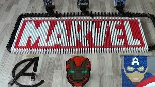 Marvel in 20,000 dominoes (DominoERDMANN & Ludominosa)