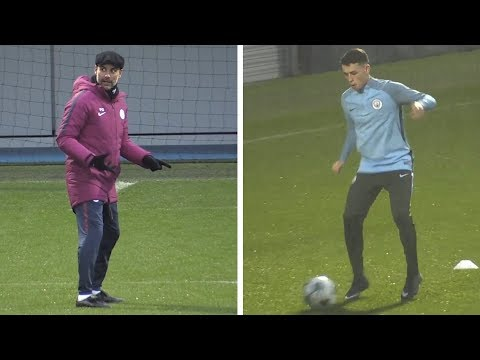 Manchester City Train Ahead Of Champions League Clash With Feyenoord