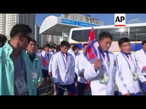 NKorean officials visit athletes, depart following Asia Games closing ceremony