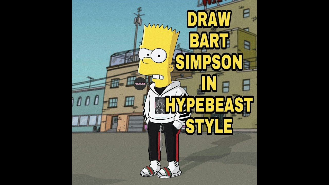 Draw Bart Simpson In Hypebeast Style Youtube