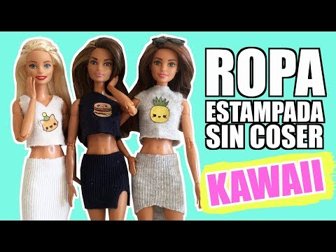 how-to-make-clothes-without-sewing-for-barbie.-kawaii-clothes-for-dolls.