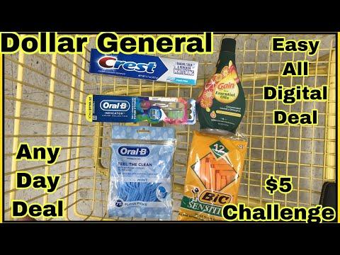 Dollar General $5 Challenge 🎉 Easy All Digital Deal