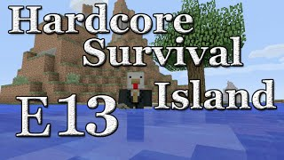 Minecraft - Hardcore Survival Island - Episode 13 - More Mossy Cobblestone
