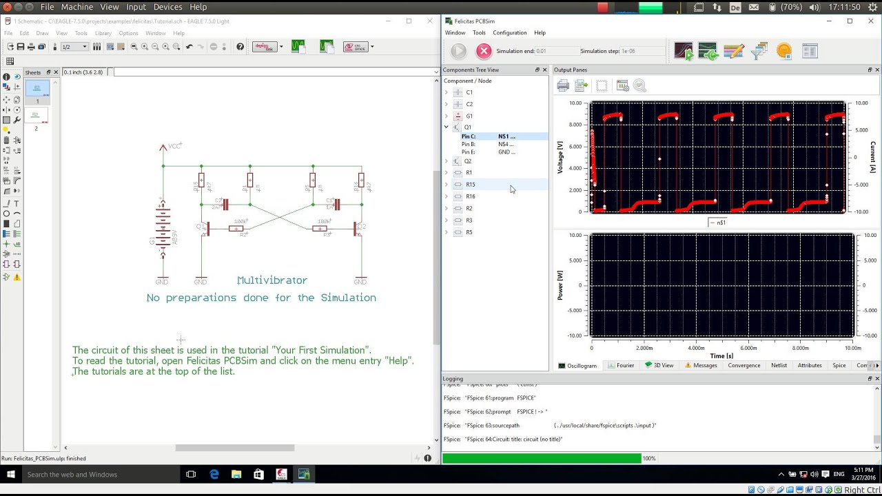 Step by Step tutotial of EAGLE Schematic Simulation powered by ...