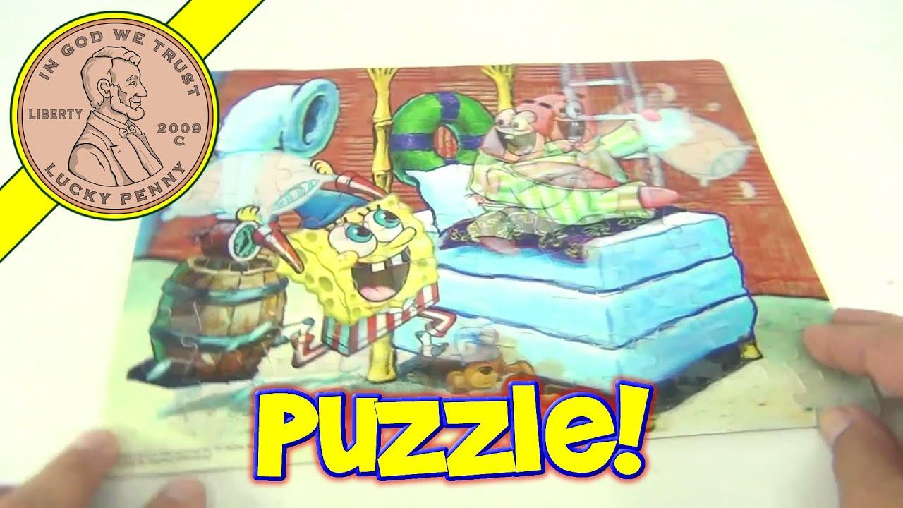 spongebob squarepants 100 piece lenticular 3d effect pillow fight