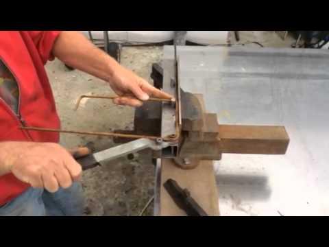 Wonderbaar Betonijzer plooien - YouTube DP-55