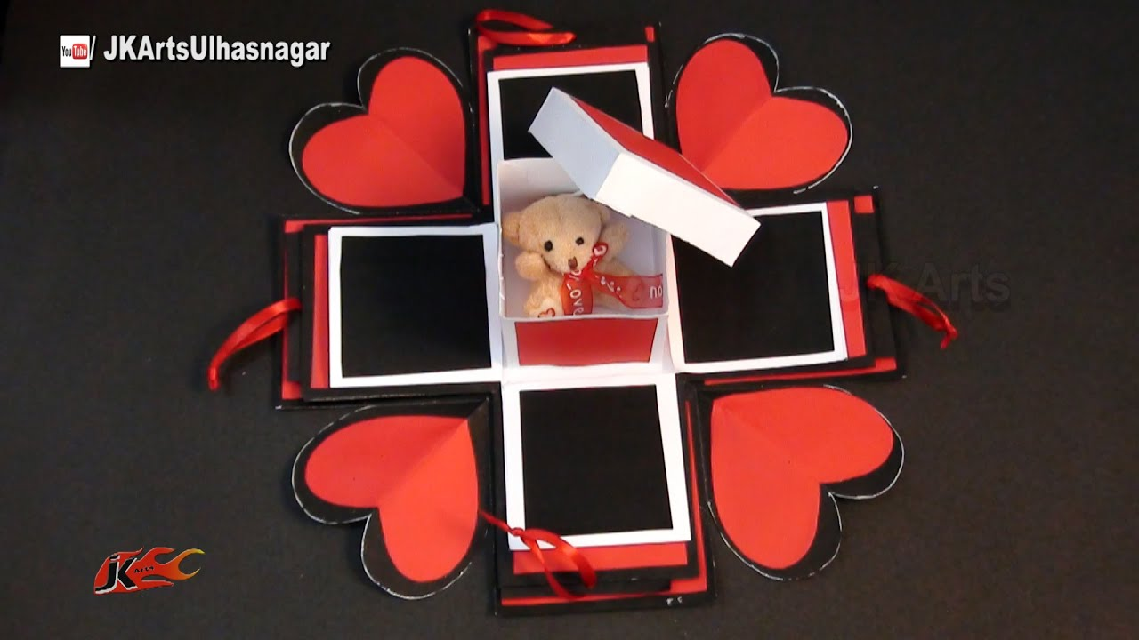 Papercraft DIY Exploding Love Box Idea | JK Craft Ideas 089