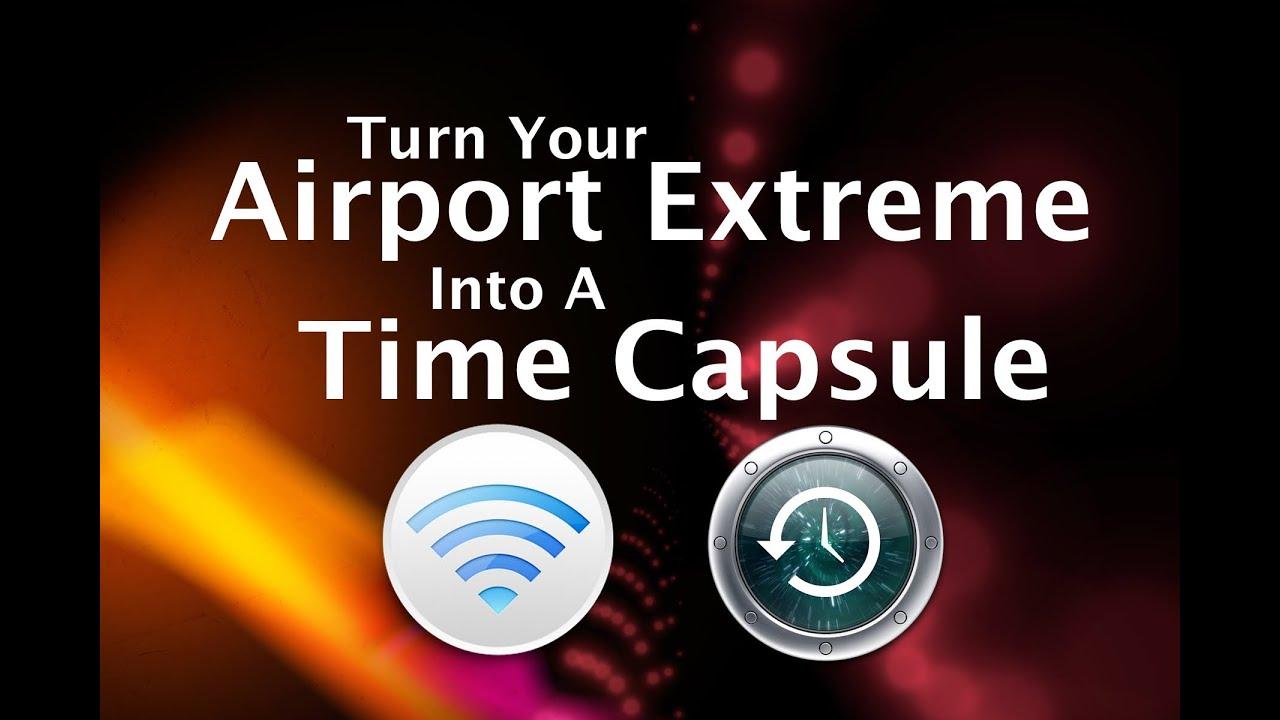 Time capsule hookup